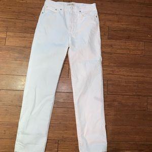 Madewell white jeans straight leg 25